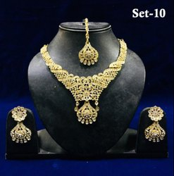 Heavy Designer Stone Semi Bridal Necklace Sets