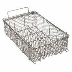 Stainless Steel Rectangular SS Basket, For Home