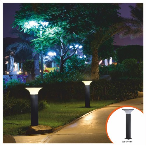Optolumens 10-16watt LED Decorative Bollard Garden Light, For Garden,Hotel And Landscaping, 10watt And 16watt