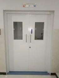 White Iron Metal Doors, Thickness: 46, Material Grade: Gi