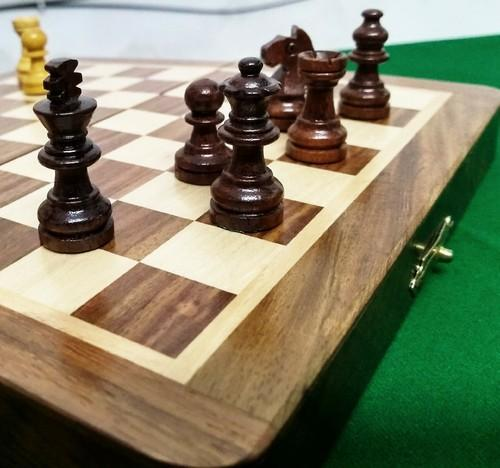Wood Brown Wooden Magnetic Chess