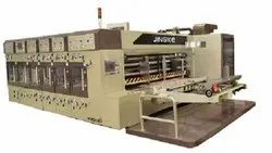 Auto Lead Feeder Flexo Printing Slotting Rotary Die cutting Machine With Hydraulic Stacker