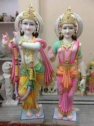 Worship Marble Radha Krishna Statue