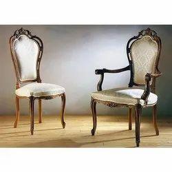 White Teakwood Designer Maharaja Sofa Chairs