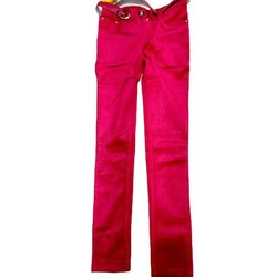 Pink Casual Wear Kids Girls Cotton Trousers