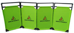 Foldable /Expandable 4 Piece Portable Barrier