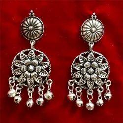 Oxidized Floral Earrings