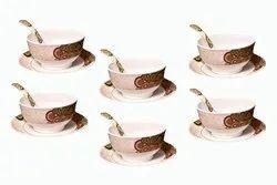 Mehul Melamine Rangoli Soup Bowl Set of 18 Pcs (Multicolor)
