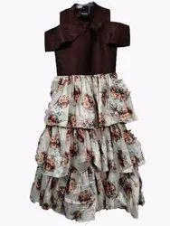 Designer Ruffled Girls Dress