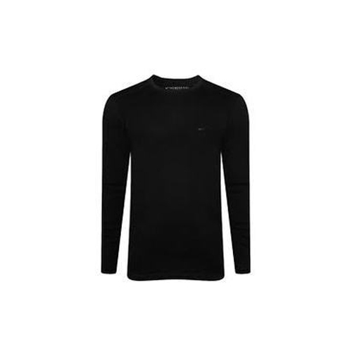a688ba66 Men's Nylon Full Sleeves Round Neck Black T Shirt, Rs 180 /piece ...