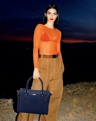 Blue Front V Zip Bag