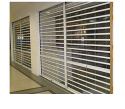 Full Height Transparent Rolling Shutters