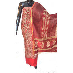 Unstitched Banarasi Silk Suits