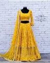 Beautiful Party Wear Yellow Lehenga Choli