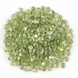 Natural Peridot Brilliant Cut Stone
