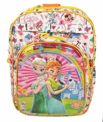 Multicolor Henny Kids Designer School Backpack