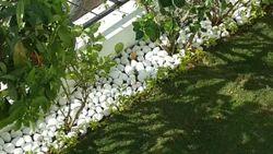 White Garden Pebbles Stone