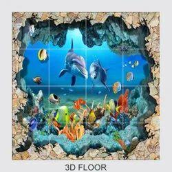 Zelos Gloss 3D Floor Tiles, For Walls, 8 - 10 mm