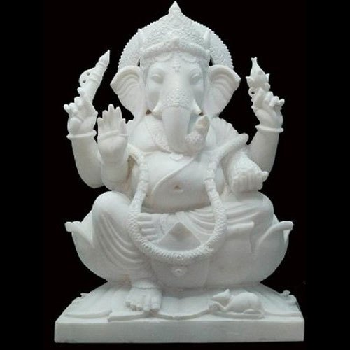 Pure White Marble Ganesh Statue Size 42 Inches Rs 90000 Piece