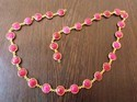 Pink Amethyst Gemstone Bezel Connector