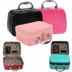 4d3c9f5f36 Makeup Case Cosmetic Hand Bag Tool Storage Toiletry Cosmetic Bag with  Mirror Square Solid Handbag
