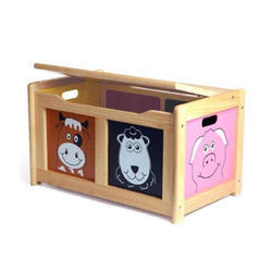 Wooden Color Toy Chest