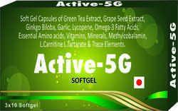 Green Tea Extract Grape Seed Extract Ginkgo Biloba Garlic Lyconpene, Omega -3 Fatty Acids