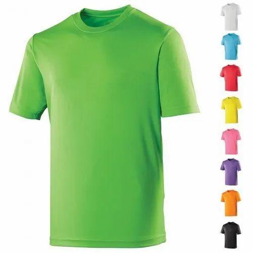 Poly Cotton Kabaddi Men Assorted Sublimation Plain T-Shirts