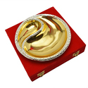 Silver & Gold Plated Doordarshan Logo Platter