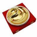 Silver & Gold Plated Doordarshan Logo Platter