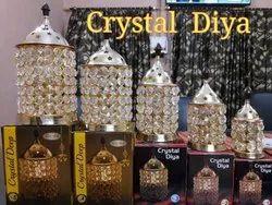 Golden Crystal Diya