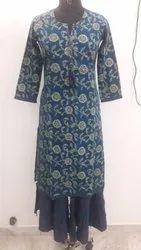 Indian Handmade cotton Kurti with palazzo Women Dress online