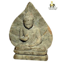 Stone Leaf Buddha Statue