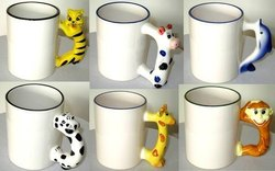 Sublimation Animal Handle Mugs