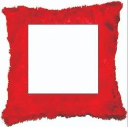 Red Or Blue Velvet Promotional Square Cushion Printing, Packaging Type: Packet