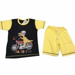 Black And Yellow Cotton Stylish Kids Wear