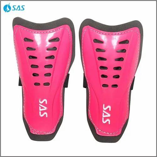 Red, Yellow, Green, Pink SAS Football Shin Guard - Matchlite