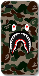 Multicolor-Matte Hard Plastic iPhone 8 Plus Babe With Shark Face Army Designer Printed 3D Cover