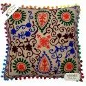Suzani Cushion Cover Designer Jute Cushion Cover For Home Decor