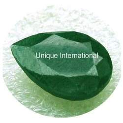 Indian Dyed Corundum Emerald Color Gemstone