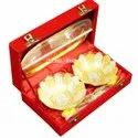 Indian Wedding Favors Brass Bowls Sets Silver Gold Plated