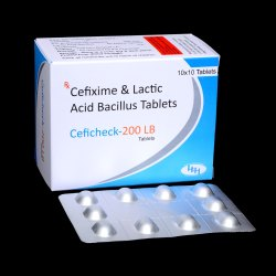 Cefixime 200mg & Lactic Acid Tablets