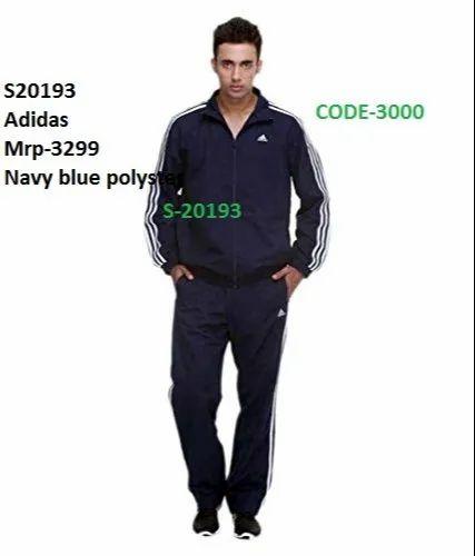 świetna jakość bardzo popularny fabrycznie autentyczne Adidas Navy Blue Tracksuits S20193