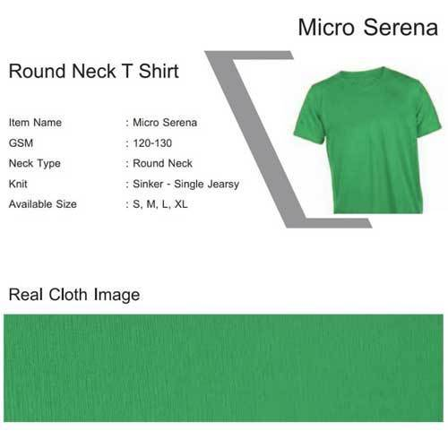 07c3c18e Micro Serena Round Neck T Shirts, Size: M And L, Rs 55 /piece | ID ...