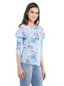 Cottinfab Women's Printed Off Shoulder Top