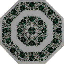 Octagonal Table Top Marble Inlay Dining Table Top