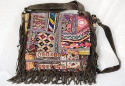 Banjara Leather Shoulder Indian Vintage Embroidery Cross Body Bag