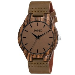 Jainx Brown Wooden Analog Watch For Men''s - JM378