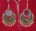 Nk Handmade Oxidized Gold Trendy Earring , Size: Free
