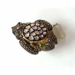 Ring Pave Diamond Sterling Silver Jewelry